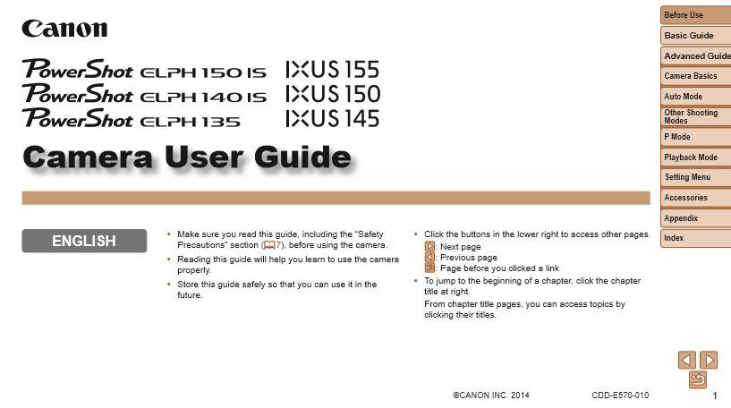Canon Elph 180 Manual