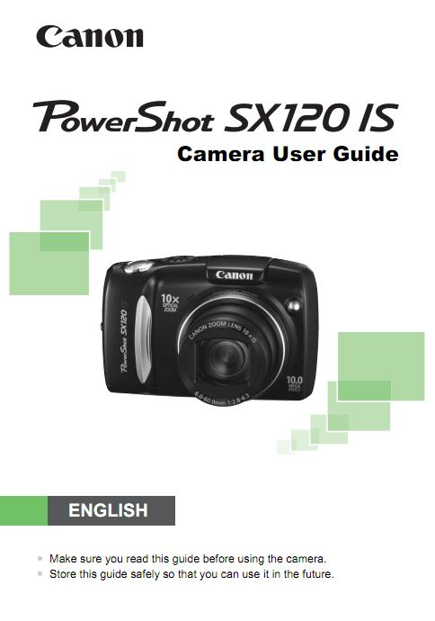 Canon  SX120 IS User Manual