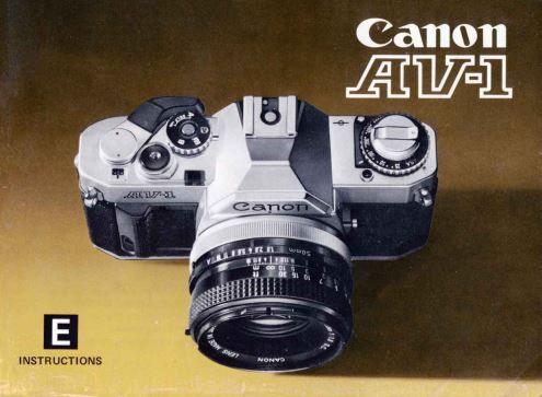 Instruction Manual for Canon AV-1Camera