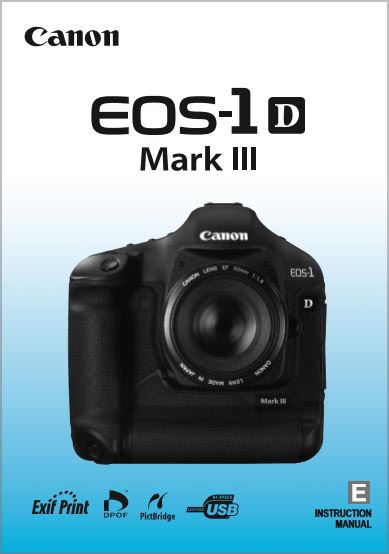 Instruction Manual for Canon 1D Mk III