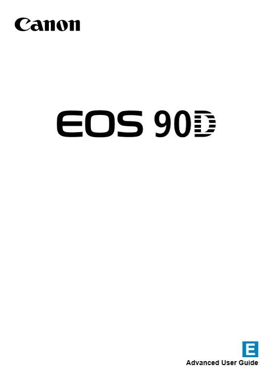 Canon 90D User Manual