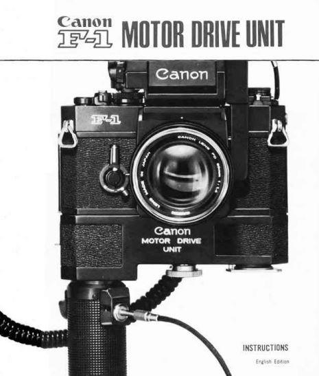Canon F-1 Motor Drive Unit User Manual