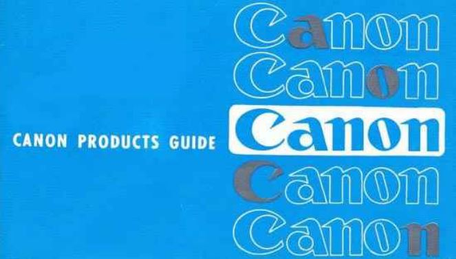 Canon Product Guide (1963)