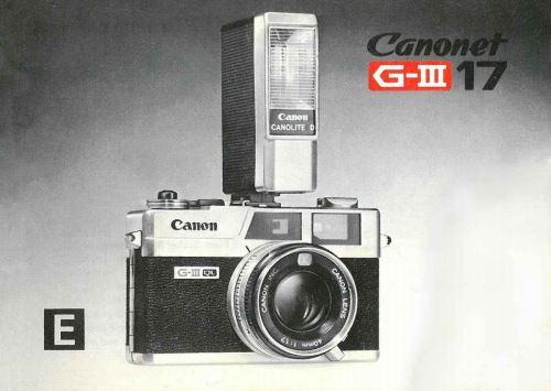 Canonet QL17 G-III Manual