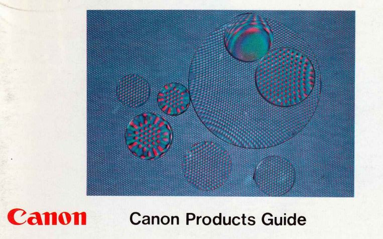 Canon Products Guide 1976