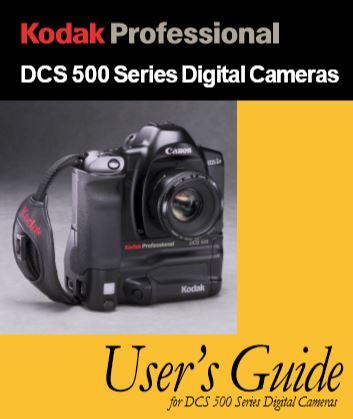 Kodak DCS 500 Series User Guide
