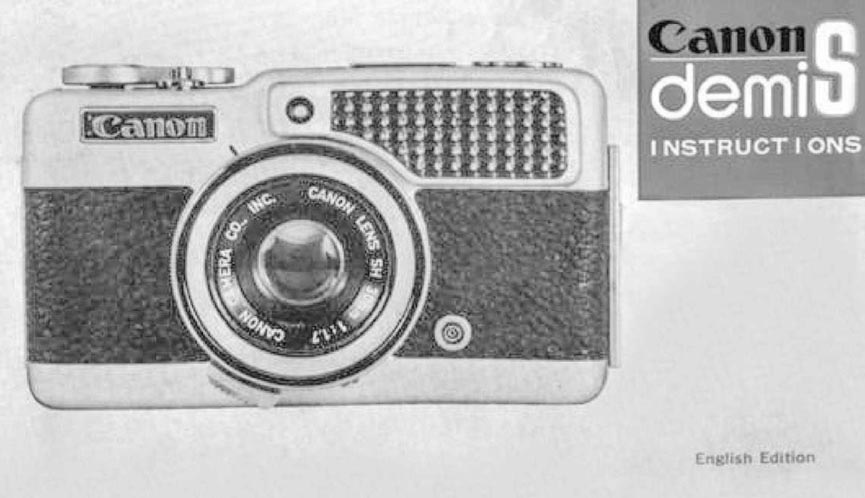 Manual for Canon Demi S