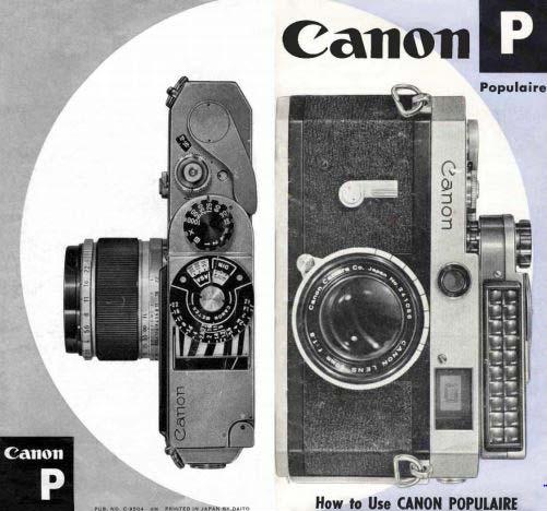 Canon Model P User Manual