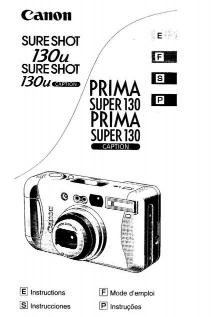 Sure Shot 130u User Manual
