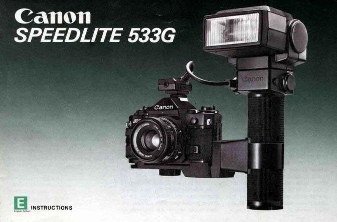 Canon Speedlite 533G Manual