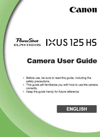 Canon Elph 110 HS Manual