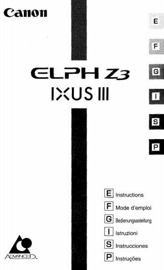 Canon Elph Z3 User Manual