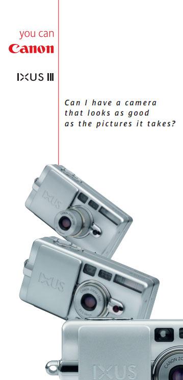 Canon Ixus III Spec Sheet