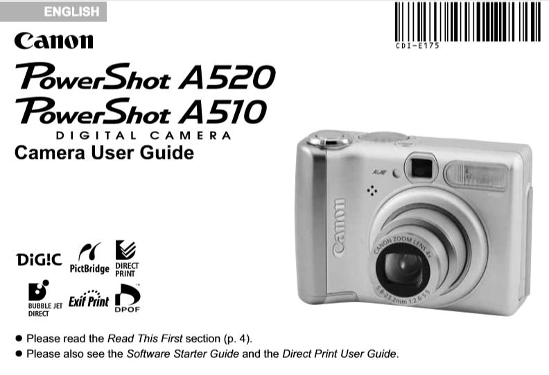 Canon PowerShot A520 User Manual