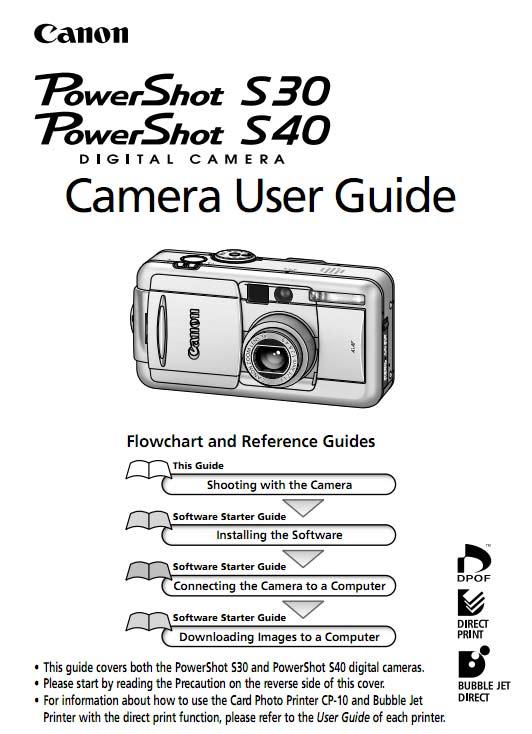Powershot S30/S40 User Manual