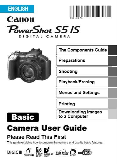 Powershot S5 IS User Manual