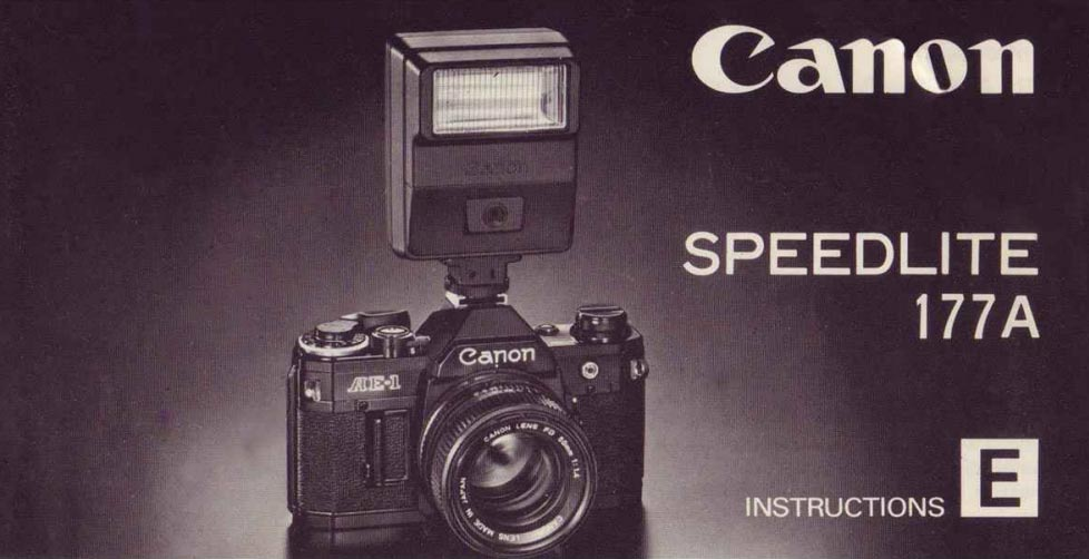 Instruction Manual for Canon Speedlite 177A