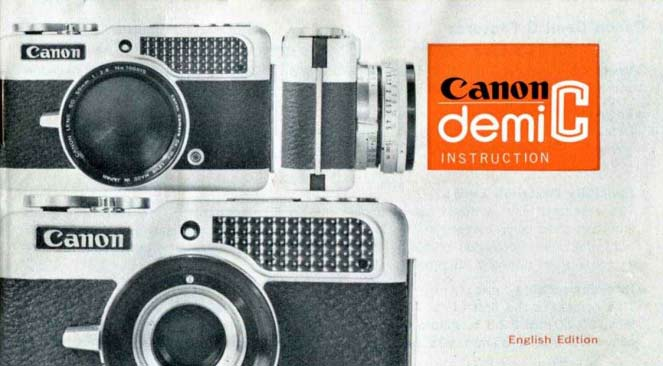 Manual for Canon Demi C