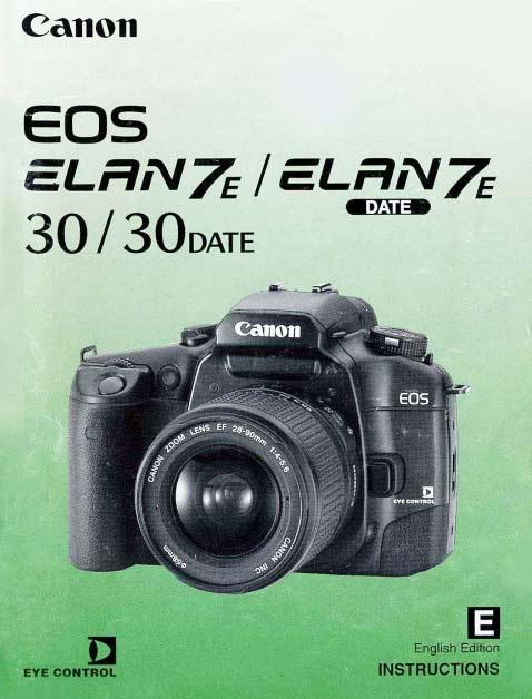 Elan 7E / EOS 30 Manual