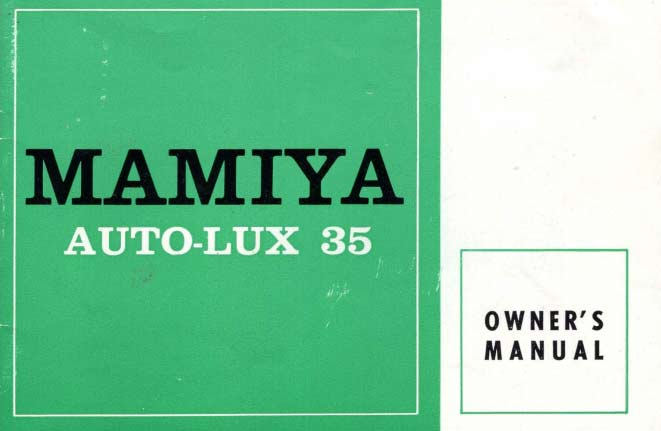 Mamiya Auto-Lux 35 User Manual