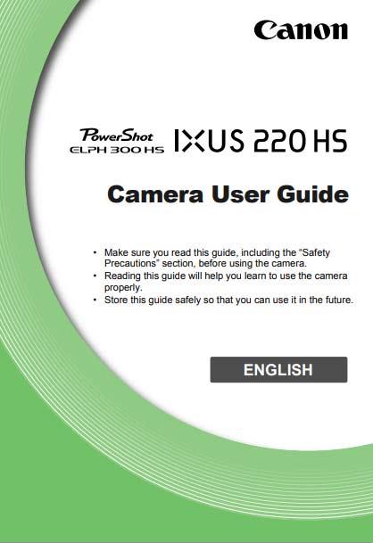 PowerShot Elph 300 HS Instructions