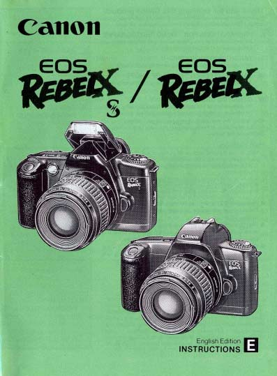 EOS Rebel X Instruction Manual
