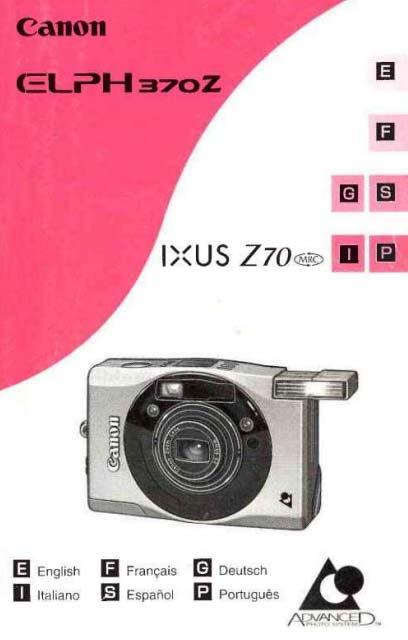 Canon Elph Z70 User Manual