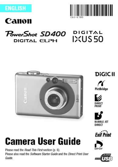 Canon PowerShot SD User Manual