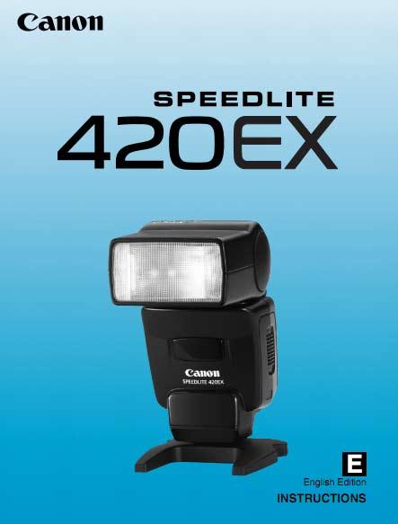 Speedlite 420EX User Manual