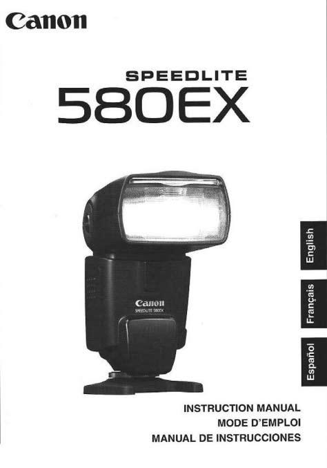 Speedlite 580EX User Manual