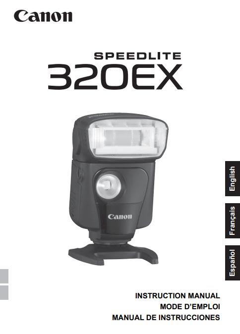 Instruction Manual for Canon Speedlite 320EX