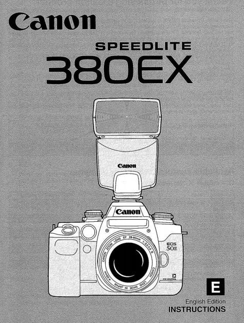 Instruction Manual for Canon Speedlite 380EX