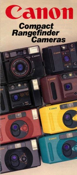 Canon Compact Rangefinder Cameras Brochure