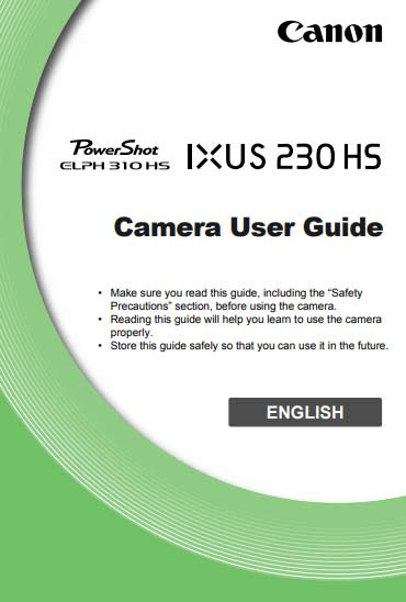 PowerShot Elph 310 HS Instructions