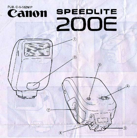 Instruction Manual for Canon Speedlite 200E