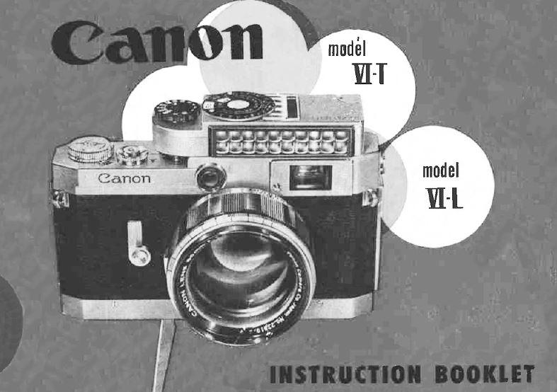 Canon Model IIIA and IV-F User Manual