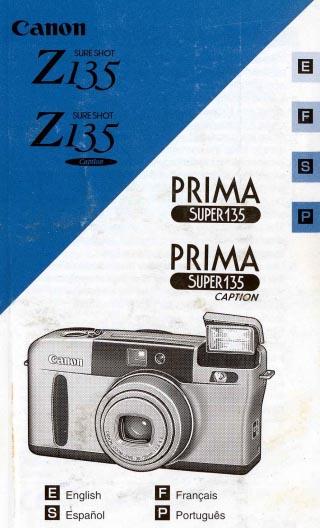 Sure Shot Z135 Manual