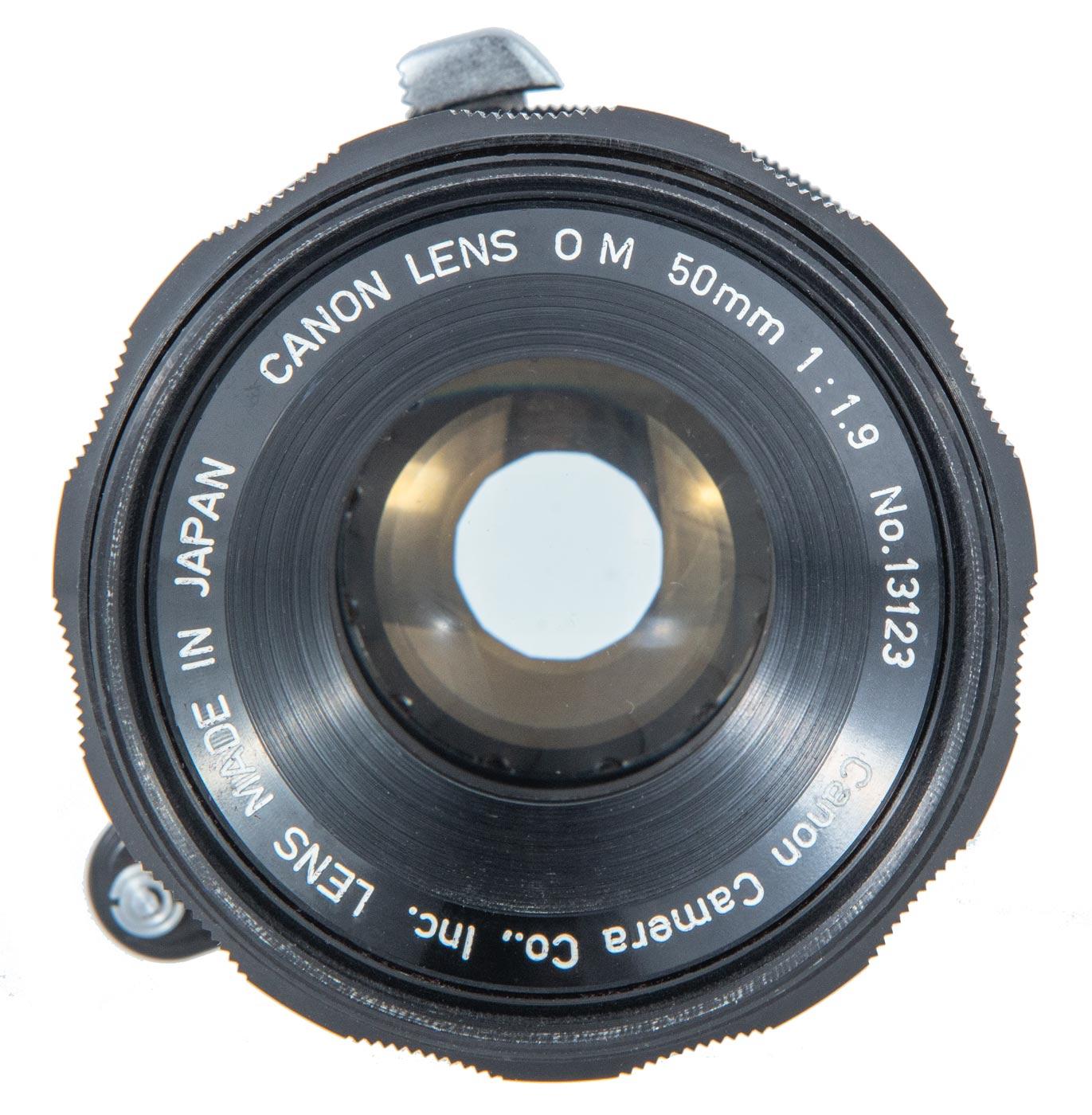 Canon OM 50mm f/1.9 lens