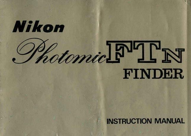 Nikon FTn Photomic Finder Manual