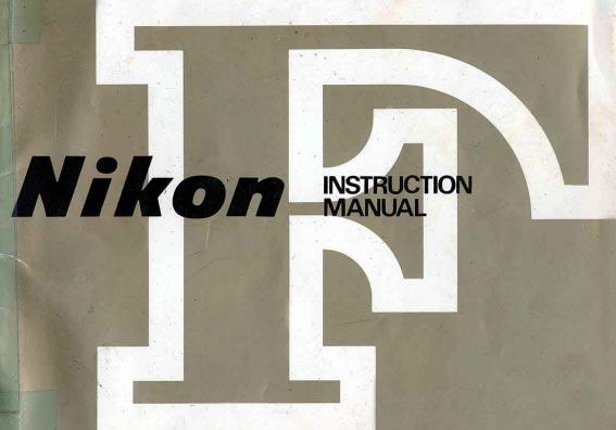 Nikon F User Manual