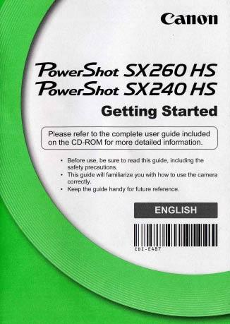 Power Shot SX240/260 HS Starter Manual