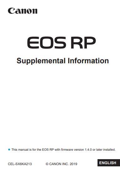 Canon EOS R User Manual
