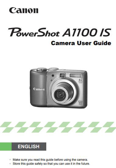 Canon PowerShot A1100 Manual
