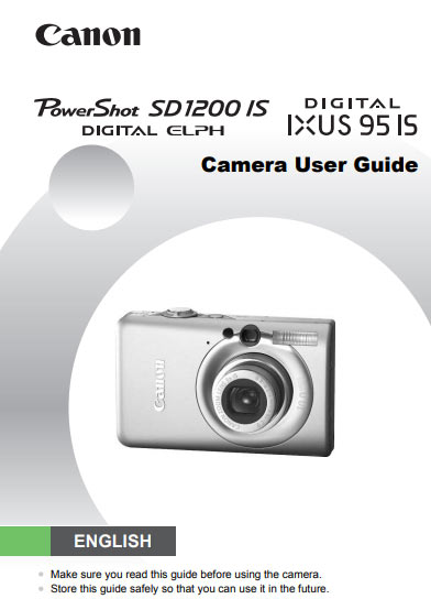 Canon PowerShot SD 1200 IS Manual