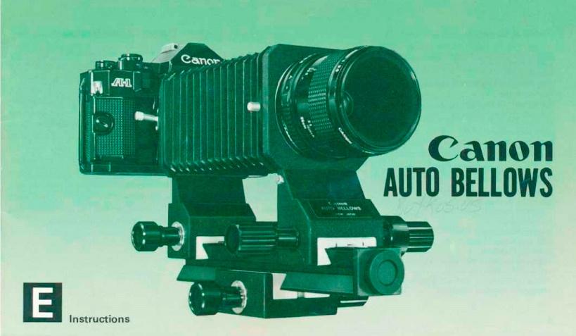 Canon Auto Bellows Manual