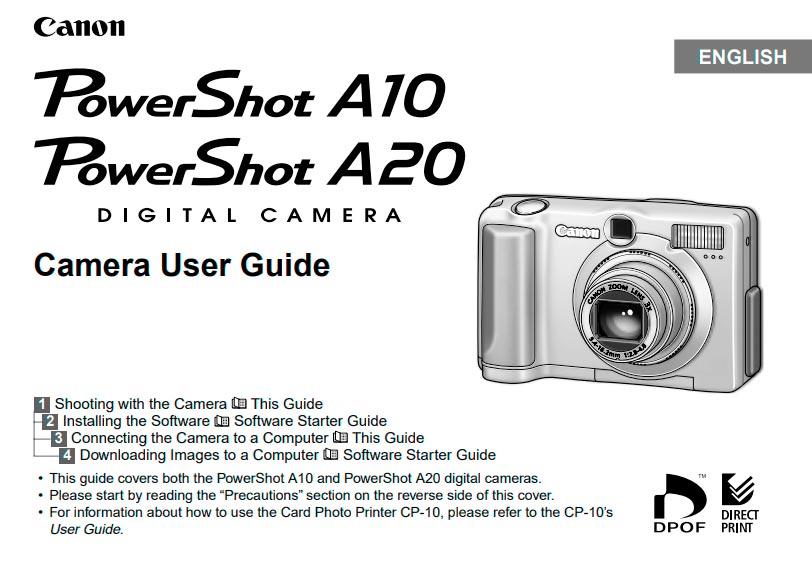 PowerShot A10 User Manual