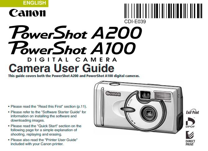PowerShot A100 User Manual