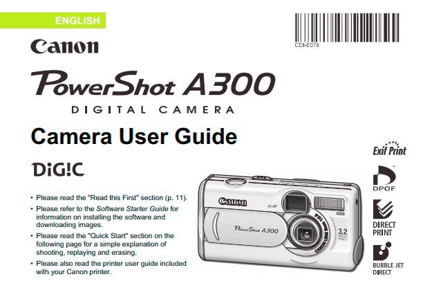 PowerShot A300 Manual