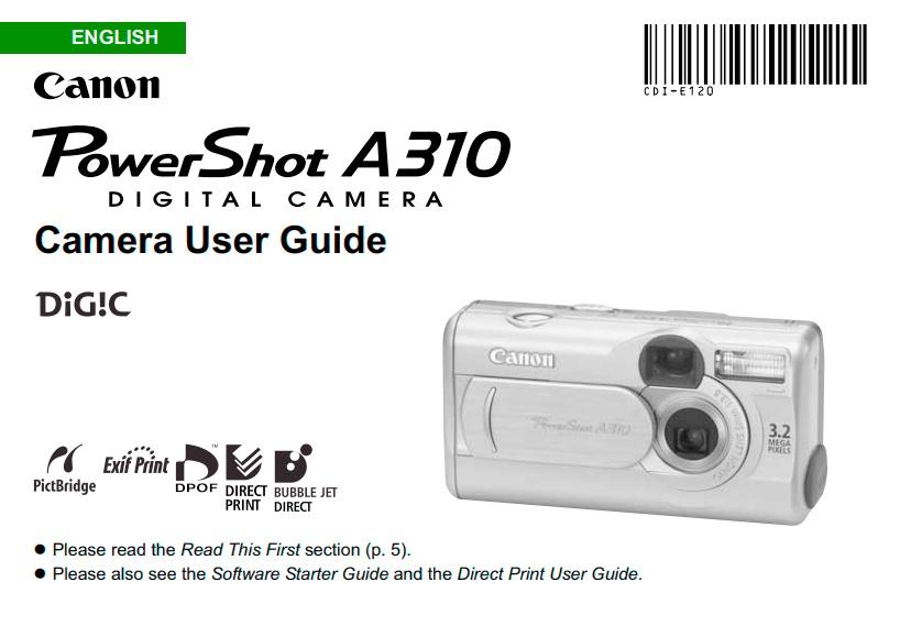 PowerShot A310 Manual