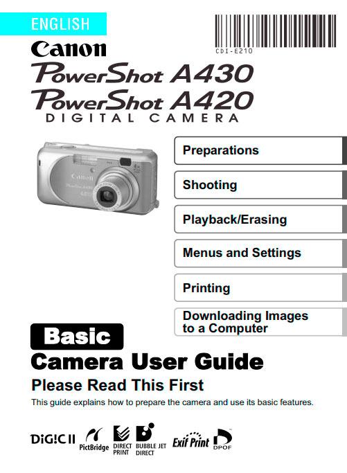 PowerShot A20-A30 Basic Manual